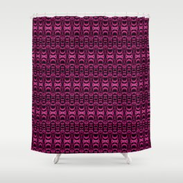 Dividers 07 in Purple over Black Shower Curtain