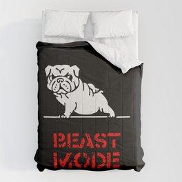 Beast Mode English Bulldog Comforters
