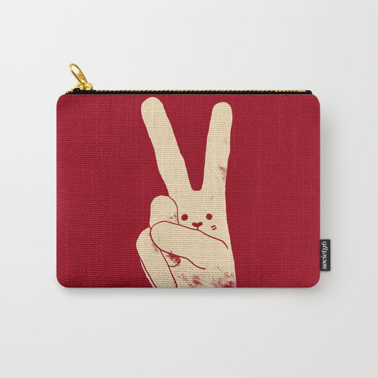 Love Peace and Carrots Carry-All Pouch
