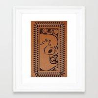 wallet Framed Art Prints featuring Little Ghosty Wallet by Billy Davis