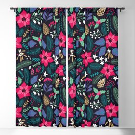Seamless Floral Pattern Blackout Curtain