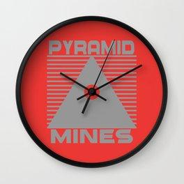Pyramid Mines Wall Clock