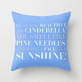 Bridesmaids Wedding Pine Needles Sunshine Throw Pillow
