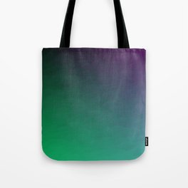 Peacock Green purple blue black ombre waves Tote Bag