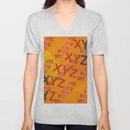 XYZ - pattern Unisex V-Neck