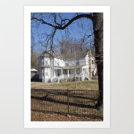 Cherokee Nation - The Ivy-Duncan-Dannenburg Home, built in 1874 Art Print