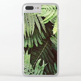 Forest of Green Ferns Clear iPhone Case