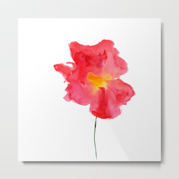 Dream big || watercolor flower Metal Print