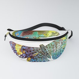 Butterfly Obsession in Blues Fanny Pack