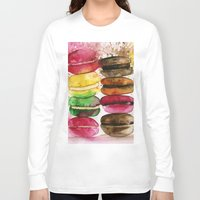 macarons Long Sleeve T-shirts featuring macarons by Olga Gridneva