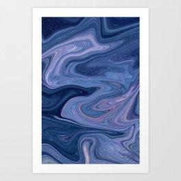 Purple Fluid Mix Art Print
