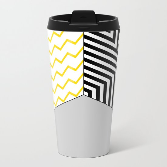 Geometric Circle #2 Metal Travel Mug
