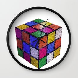 The color cube Wall Clock