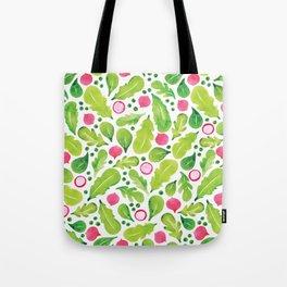 Green Salad pattern Tote Bag