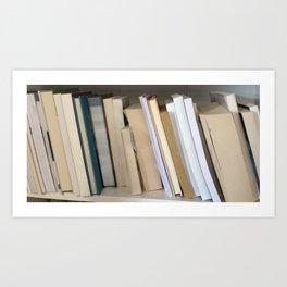 Books on a Shelf Art Print