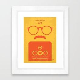 No372 My HER minimal movie poster Framed Art Print