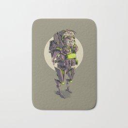 heavy cyborg army Bath Mat