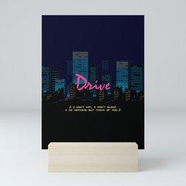 Drive Movie Pixel Night Mini Art Print