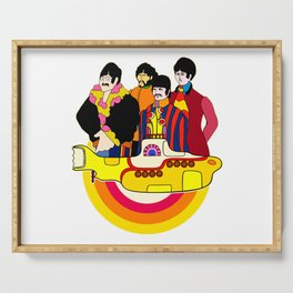 Yellow Submarine - Pop Art Serving Tray