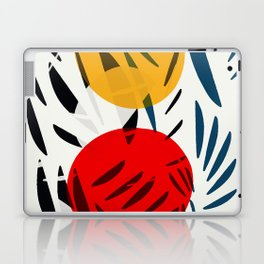 Yellow and Red Abstract Art Graphic Design Laptop & iPad Skin