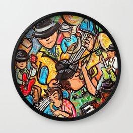 Jazzfest Musicians Wall Clock