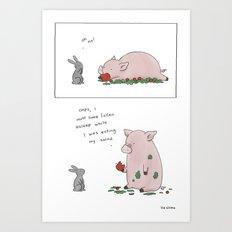 Salad is Good  Art Print