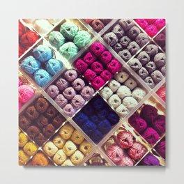 Yarn Display Metal Print