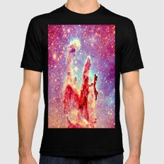 GALAXY : The Pillars of Creation Nebula Black Mens Fitted Tee MEDIUM