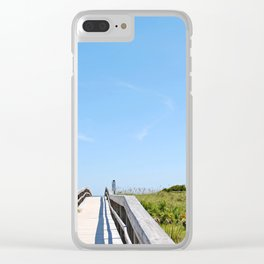 Nature Walkway Clear iPhone Case