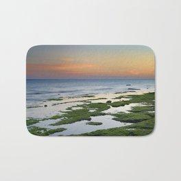Green coast. Mediterranean sea. Bath Mat