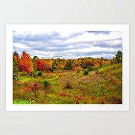"""""""Autumn Valley"""" Art Print"""