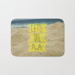 Let's Sail Away: Sandy Beach Bath Mat
