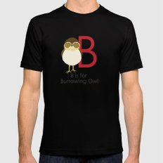 B is for Burrowing Owl Mens Fitted Tee MEDIUM Black
