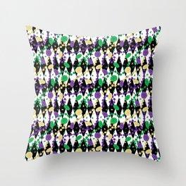 Mardi Gras Throws Throw Pillow