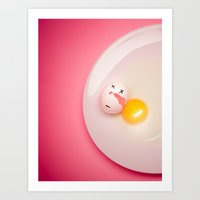 egg Art Prints featuring Egg. by Alexey & Julia