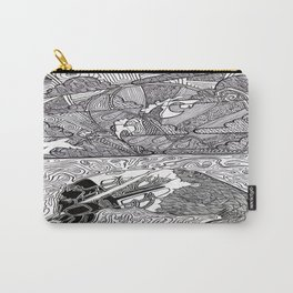 Drawing Flamingo Carry-All Pouch