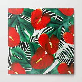Anthurium red Metal Print