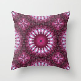Kaleidoscope pink colors. Throw Pillow