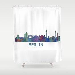 Berlin City Skyline HQ Shower Curtain