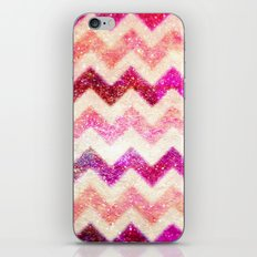 Glitter Pink Chevron - for iphone iPhone & iPod Skin