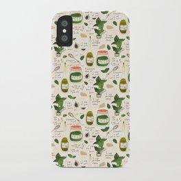 Pesto. Illustrated Recipe. iPhone Case