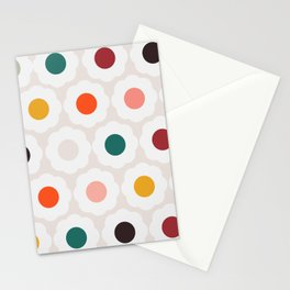 Retro Florals Pattern no6 Stationery Cards