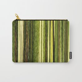 green beige brown yellow abstract striped digital design Carry-All Pouch