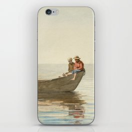Winslow Homer - Three Boys in a Dory with Lobster Pots iPhone Skin