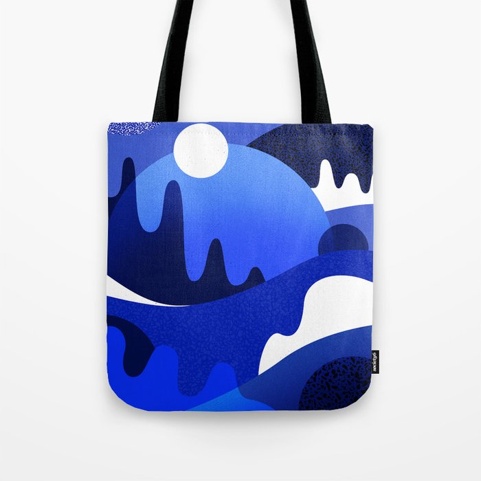 Terrazzo landscape blue night Tote Bag