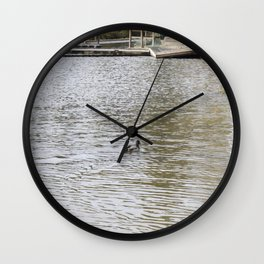 On the Lake  Wall Clock