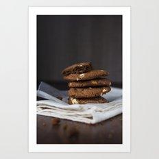 Chocolate cookies Art Print