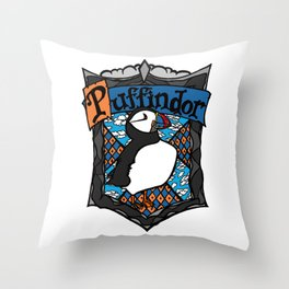 Puffindor Throw Pillow