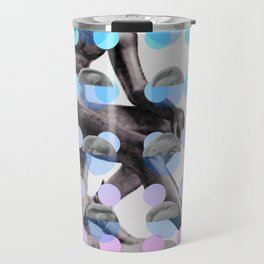 Statue With A Dot Gradient 2 Travel Mug