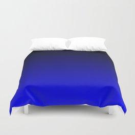 Black and Cobalt Gradient Duvet Cover